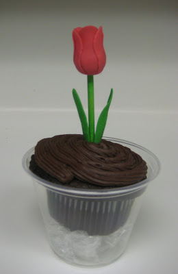 Teacher Appreciation Tulip Cupcakes - PinkTulip