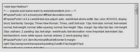Tek Box Untuk Artikel Tertentu Menggunakan Scroll Di Blogspot
