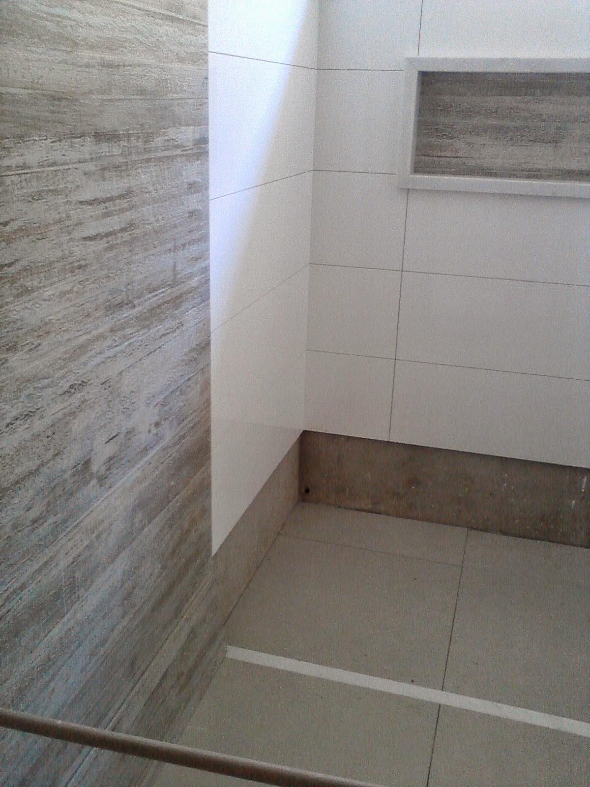 Minha Casa Clean Banheiro pastilha madrepérola -> Banheiro Clean Com Pastilha