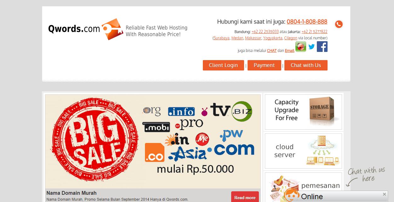 QWORDS DOT COM - Penjual Domain & Hosting terbaik di Indonesia!