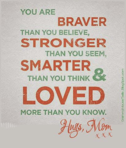 mothers day quote mom says you are strong smart loved image