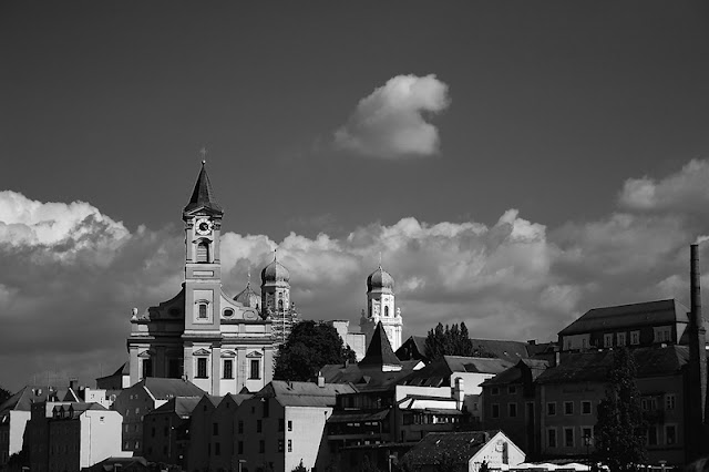 Hohenfel Volks: Passau skyline, pre-exposure finished