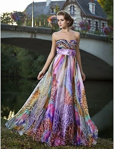 vestido de fiesta de gasa Leonilda