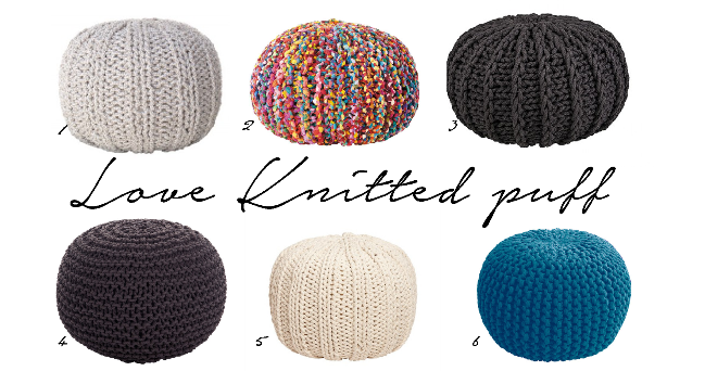Knitted puff shop