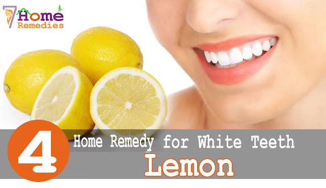 Lemons for teeth white