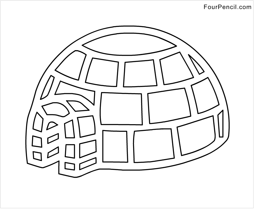 Igloo Coloring Page Sketch Coloring Page Igloo Coloring Page