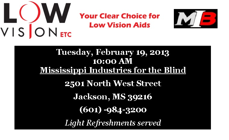 Low vision support group for Vision industries group