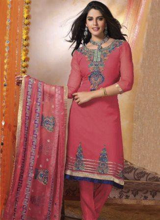 Georgette-Churidar-Suit