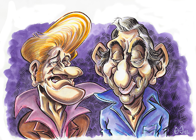 vieille canaille, caricature d'eddy mitchell, caricature de gainsbourg