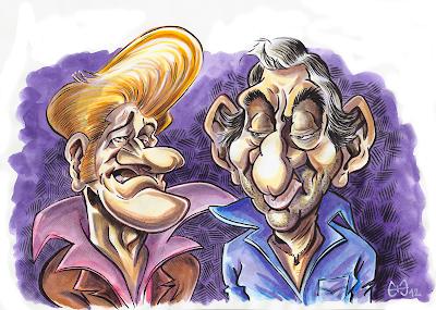 vieille canaille, caricature d'eddy mitchell, caricature de gainsbourg