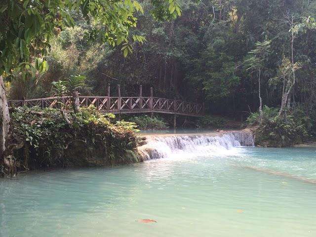 Tat Kuang Si Park in Luang Prabang, Laos