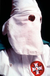 Hooded klansman