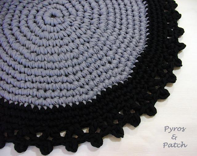 Tappeti Fai Da Te Con Fettuccia : Pyros patch tappeto di fettuccia a crochet