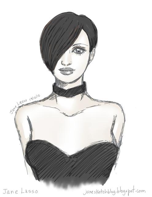 Rostro de una mujer hecho con Illust Studio.