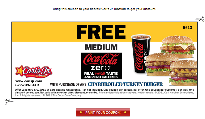 Carl's jr coupons november 2018