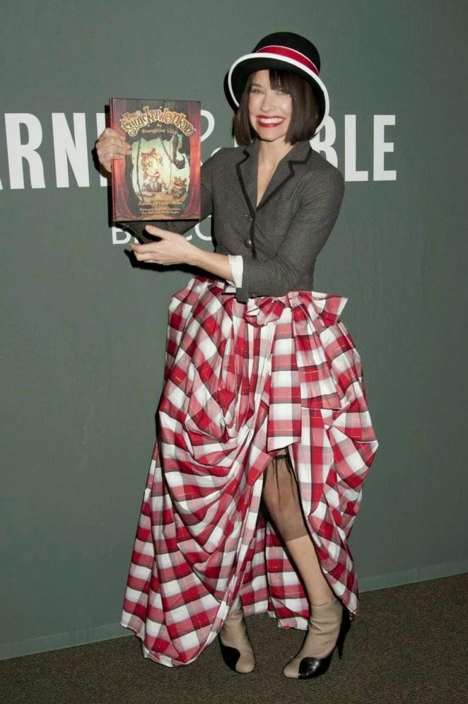 Evangeline Lilly en la presentación de su libro infantil