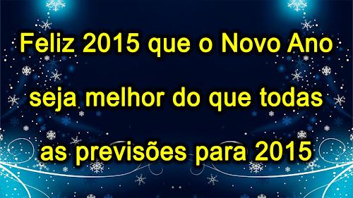 2015: Mensagens Curtas de Ano Novo