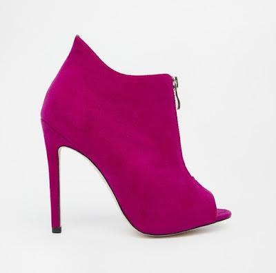 Asos Hot pink high heeled booties