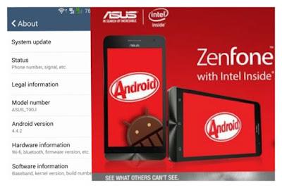 Cara Upgrade Asus Zenfone 4 (T001) KitKat ke Lollipop Dengan Mudah