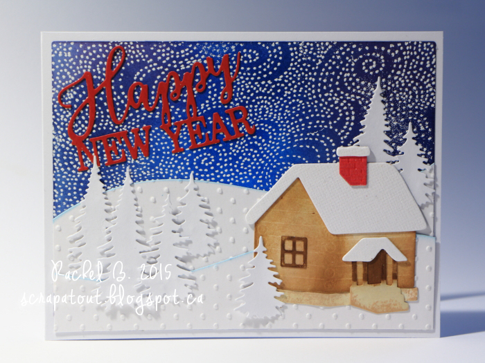 Handmade card, Impression Obsession, Winter, Holidays