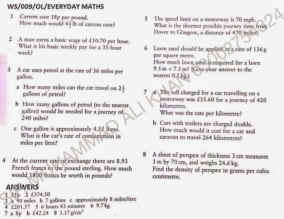 muhammad ali khan official worksheets of everyday maths with answers for mathematics syllabus. Black Bedroom Furniture Sets. Home Design Ideas