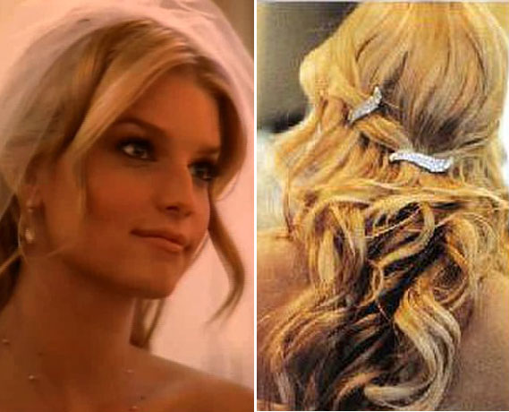 Jessica Simpson Wedding Hairstyle