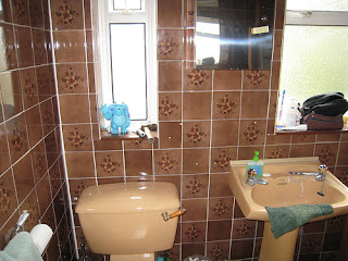 Green Bamboo Flooring Bathroom Wall