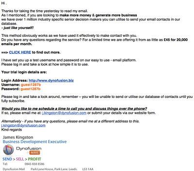 email, marketing, Dynofusion, Leeds, James Kingston