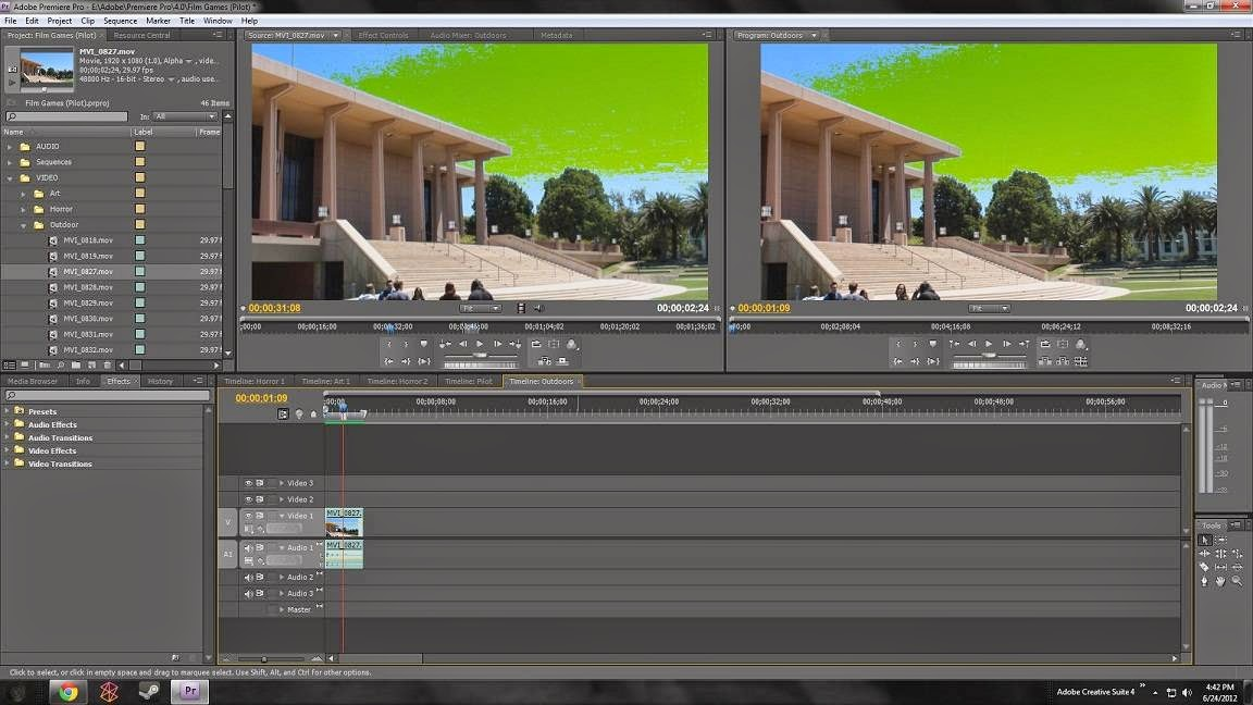 Adobe Premiere Pro CC Screen