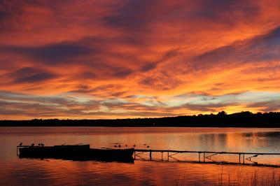 Sunset, Birch Lodge, Trout Lake, MI