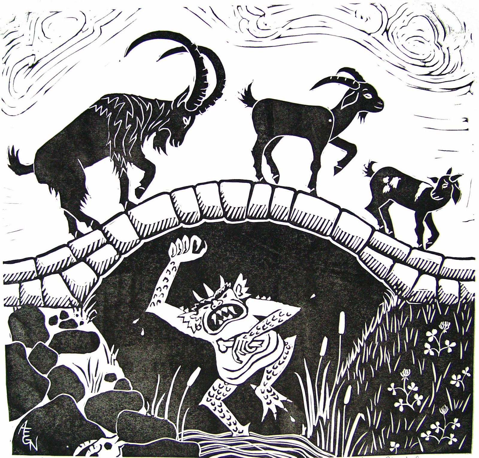 Worksheet Troll Under The Bridge Story black and white my billy goats gruff august 26 2014