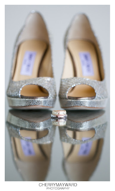Wedding rings with Jimmy Choo shoes in background, Koh Samui, Thailand
