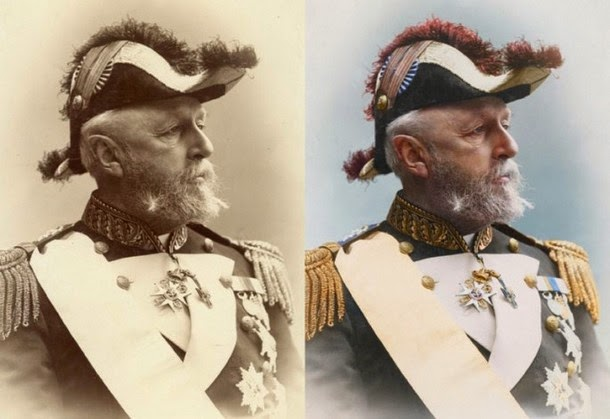 28 Realistically Colorized Historical Photos Make the Past Seem Incredibly Alive - Oscar II, King of Sweden and Norway, 1880
