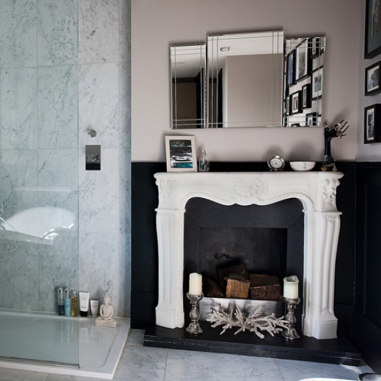 What Could Be More Luxurious Then A Bathroom With Itu0027s Very. Own Fireplace?