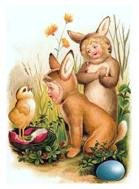 Antiques Attic Antique Easter Greetings