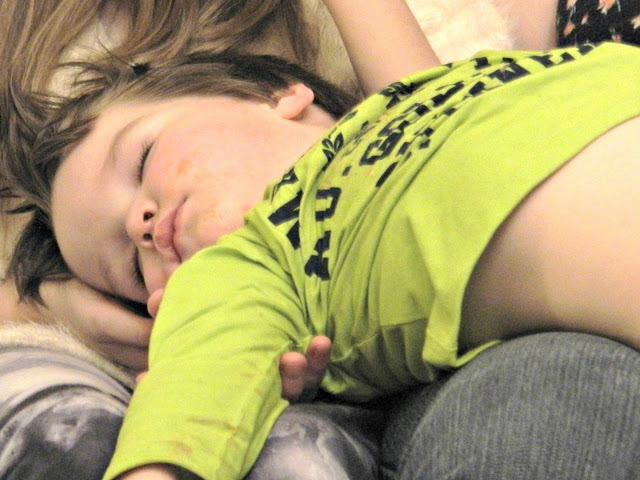 Small boy toddler sleeping