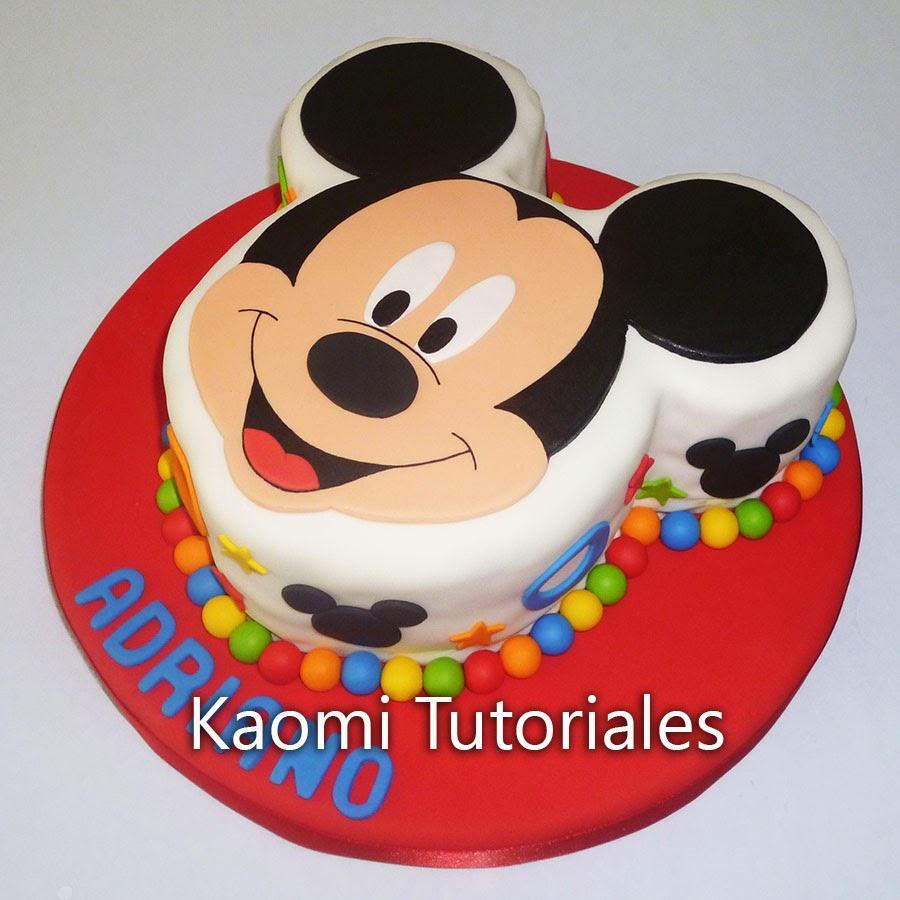 Kaomi Tutoriales: Torta de Mickey / Mickey Mouse Cake