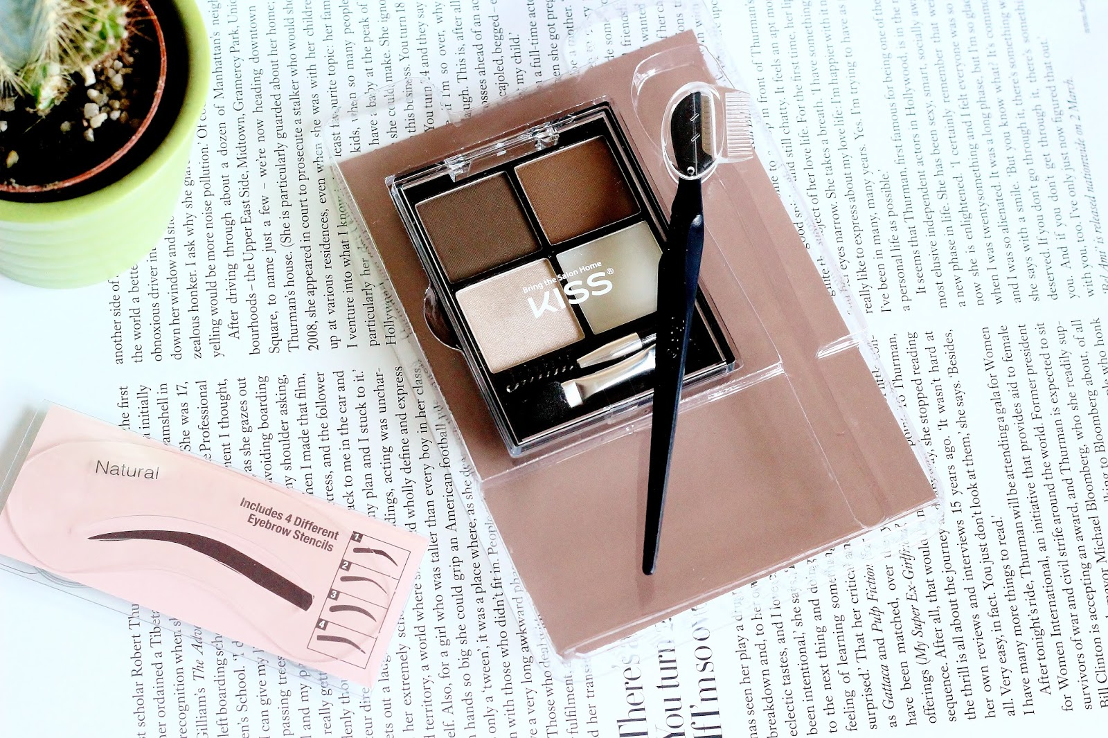 kiss beautiful brow kit the ultimate brow bar review