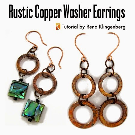 Rustic Copper Washer Earrings –(Tutorial)  @ Rena Klingenberg Jewelry Making Journal