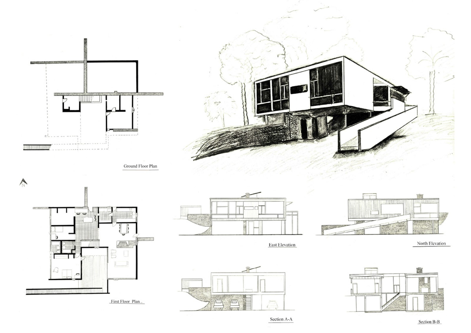 ARCH Architectural Communication   Draw It  Rose Seidler House Draw It  Rose Seidler House