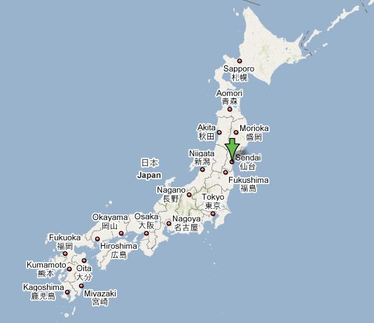 Sendai Japan  city photo : Earthquake 60 miles east of Sendai. One to two meter tsunami alert ...