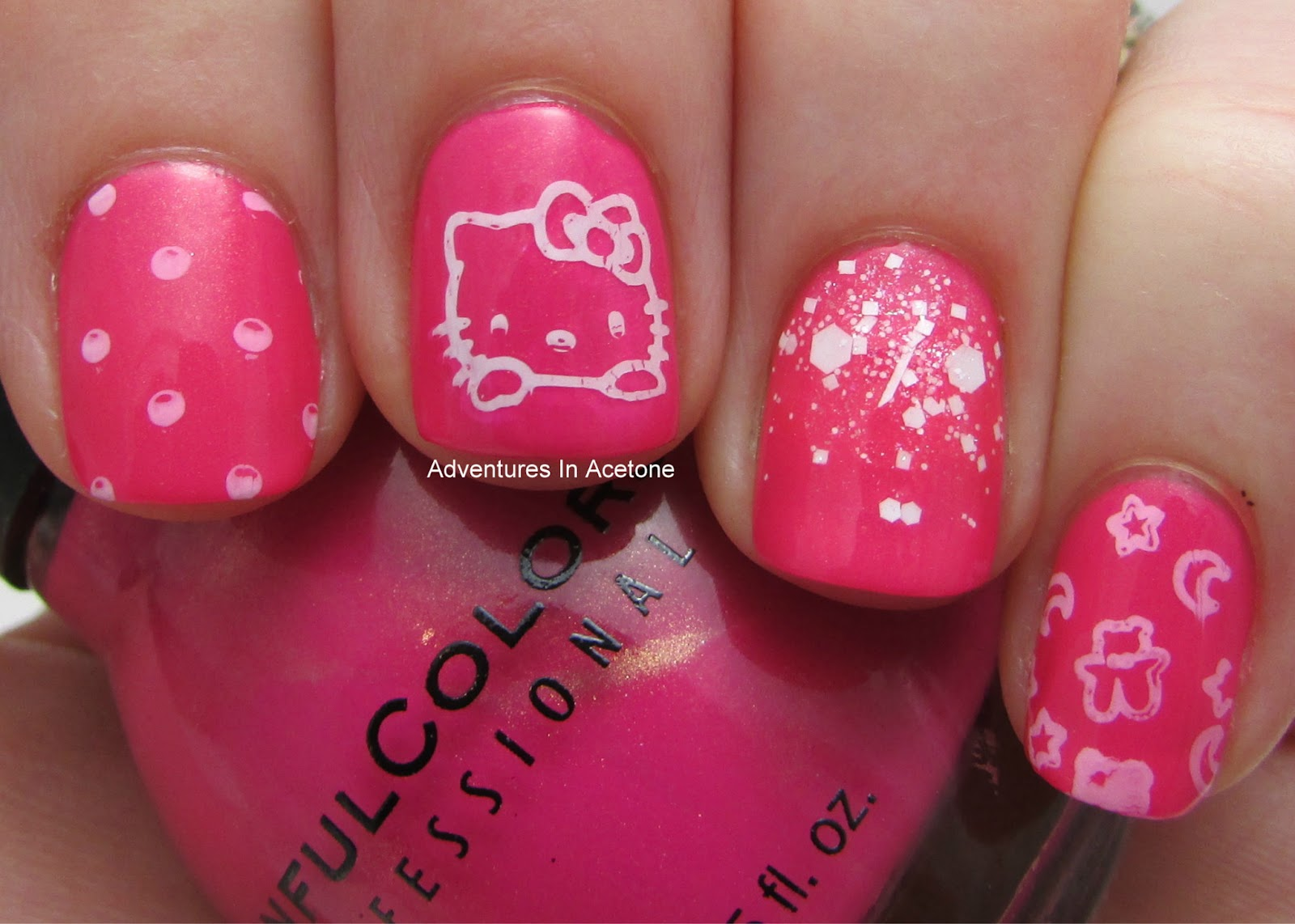 Born Pretty: Pooh Bear, Angry Birds, and Hello Kitty Stamping Plate ...