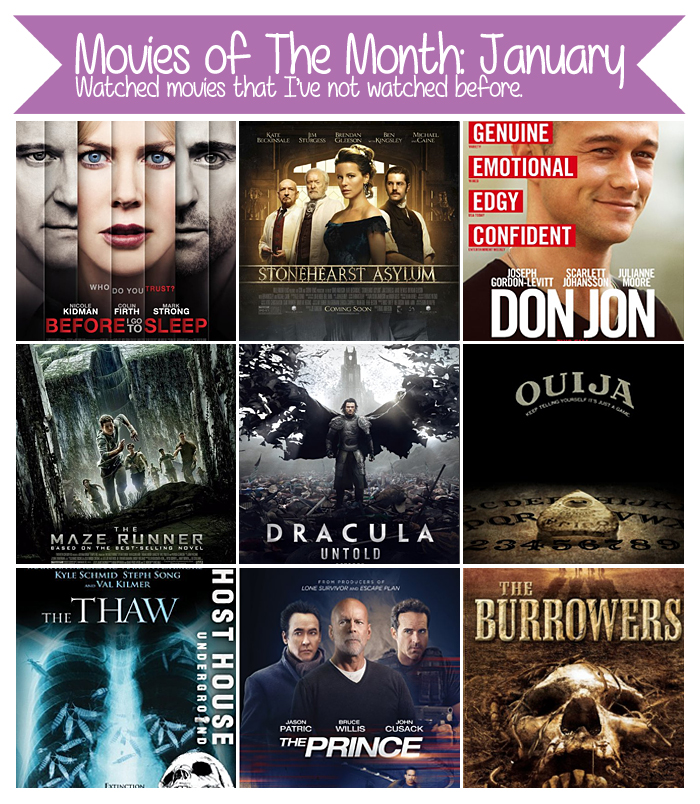 Movies of The Month: January