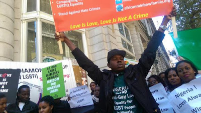 Nigeria anti gay law protest