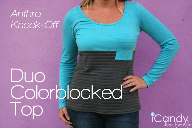 colorblocked top free pattern