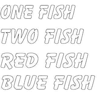 One Fish Two Fish Red Fish Blue Fish Coloring Pages Little Stars Learning Drseuss One Fish Two Fish Art