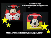 Recuerdo para 1er. Añito/Bautizo Galletas de Chocolate invitacion mickey mouse