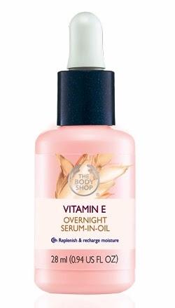 Vitamin E Overnight Serum In Oil, the body shop, skincare, beauty