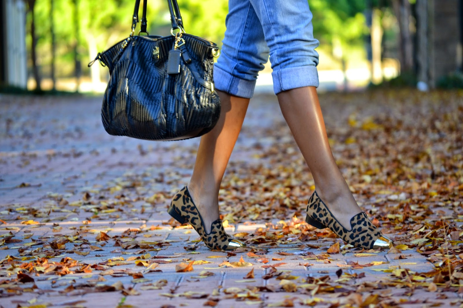 Wearing 14th & Union leopard print flats from Nordstrom Rack