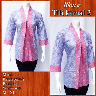 Model Blouse Batik Titi Kamal DBT 4245